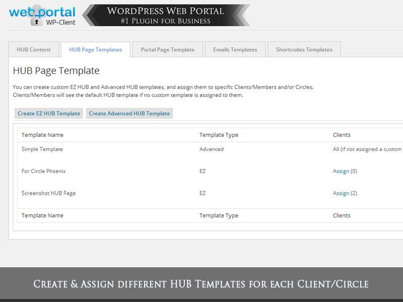 Demo Screenshot & Video Gallery | WordPress Client Area
