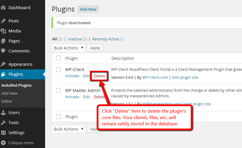 Instructions For Updating Wp Client Wordpress Client Area