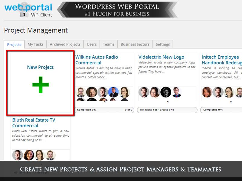 Wordpress project management plugin task management for Website build project plan