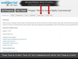 WordPress Project Management Theme