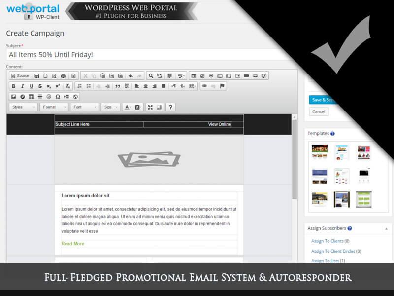 WordPress Client Portal Area, Invoicing & Project Management Plugin