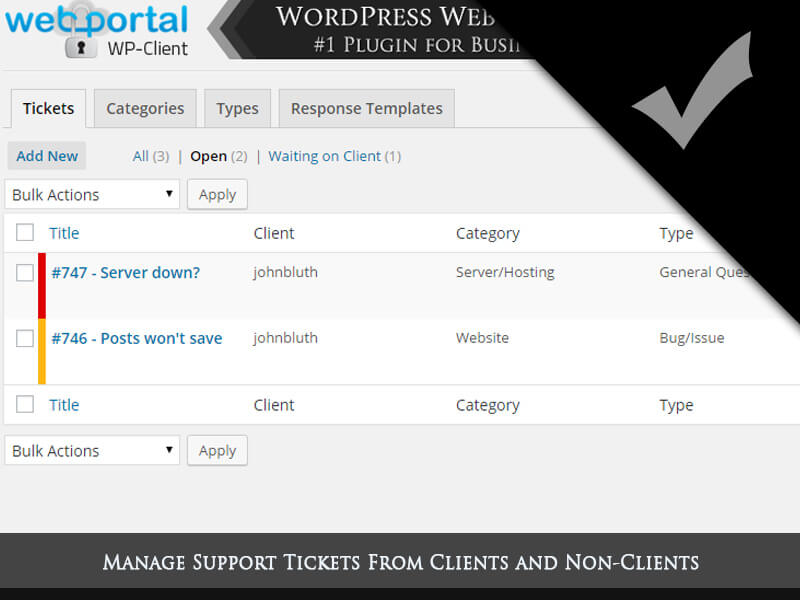 WordPress Client Portal Area, Invoicing & Project Management